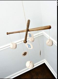 Baseball Nursery Mobile Vintage Style by CottonToMetal on Etsy, eeeeeekkkkk cant decide on baseballs or robots for this boys nursery! But this Brooklyn Dodgers mobile is really making me lean towards baseball! Baby Boys, Baby Boy Rooms, Baby Boy Nurseries, Our Baby, Kids Rooms, Baseball Bats, Vintage Baseball Nursery, Nursery Themes, Ideas