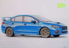 Subaru #subaru #wrx #sti #drawing