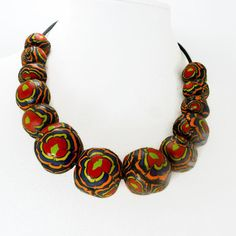 Brightly colored handmade necklace multicolored by MaryClaires