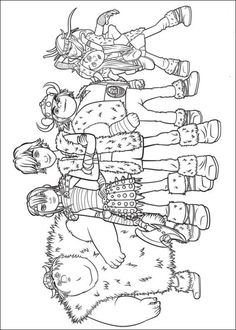 Printable Coloring Page Of How To Train Your Dragon Picture 18 550x770