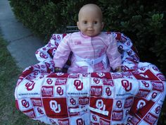 OU baby shopping cart cover/ high chair cover by littlestitches59, $40.00