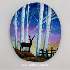 7 Rock Painting Ideas For Home Decor DIY Rock Art Deer : Want to come up with some new ideas? Rock painting has recently become popular, it is not only very beautiful, also plays a very good decorative role DIY painting oilpainting paint watercolor con Art Fox, Art Rupestre, Rock Painting Designs, Home Decor Paintings, Stone Painting, Diy Painting, Painting Tutorials, Rock Painting Kids, Painting Ideas For Kids