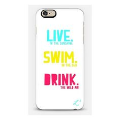 iPhone 6 Plus/6/5/5s/5c Case - Summertime Motto ($40) ❤ liked on Polyvore featuring accessories and tech accessories