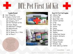 DIY pet first aid kit                                                                                                                                                     More
