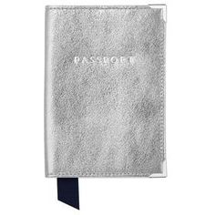 Metallic Passport Cover by Aspinal of London