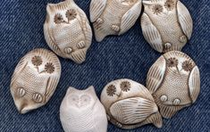 I was making owl necklaces and earrings for the Craft House  on Granville Island  and I thougth – Why not owl buttons. This spawned new earr...