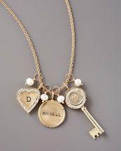 Dogeared Gold Dance Heart Charm - Neiman Marcus