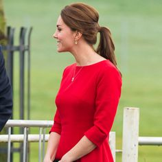 Kate Middleton Has Never Looked Better! Check Out Her Baby Bump-Baring Red Dress  #InStyle