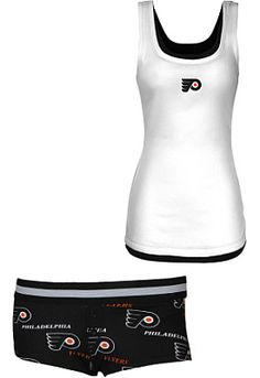 College Concepts Philadelphia Flyers Women's Prospect Tank and Boyshort Set - Shop.NHL.com