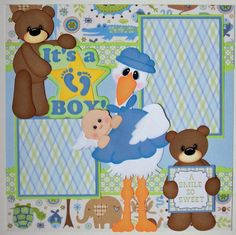 baby boy scrapbook page layout ideas   ... treasurebox designs my scrap chick and scrappy dew for this layout