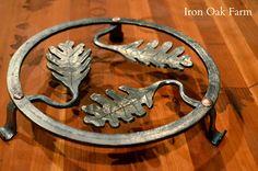 Iron Oak Farm: Blacksmithing, Oak Leaf Trivet