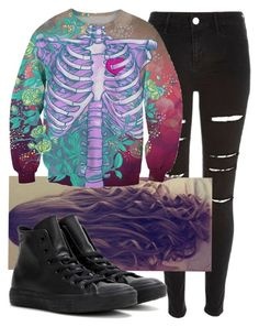 """Untitled #7404"" by carmellahowyoudoin ❤ liked on Polyvore featuring River Island, Bobbi Brown Cosmetics, Chicnova Fashion and Converse"