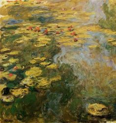 The Water-Lily Pond (left side), 1917-19 - Claude Oscar Monet - The Athenaeum