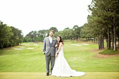 Bride & Groom with golf course views. Wedding & Reception Venue at St Ives Country Club, Johns Creek (Atlanta), Georgia:Adam + Brittany Photo By CWF Photography Johns Creek, Wedding Photo Gallery, Elegant Centerpieces, Wedding Reception Venues, St Ives, Atlanta Georgia, Brittany, Bride Groom, Golf