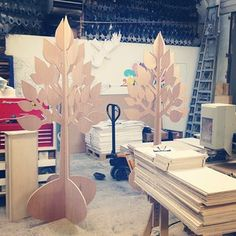 CNC cut trees by Synchronized liquid, cut by Lost Heritage