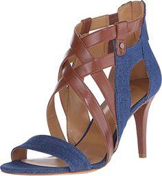 Nine West Women's IDigit Blue/Brown Fabric Pump 9 M - http://all-shoes-online.com/nine-west/9-b-m-us-nine-west-womens-idigit
