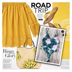 """Rev It Up: Road Trip Style"" by vanjazivadinovic ❤ liked on Polyvore featuring Tiffany & Co., Whiteley, Aranáz, Aerosoles, roadtrip, polyvoreeditorial and zaful"