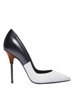 Black-and-white Diego Dolcini pumps