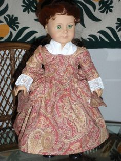 1770s Colonial En Forreau Gown for by alohagirldollclothes on Etsy