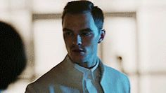 """Kristen Stewart and Nicholas Hoult in Equals (2016) """"Would you risk everything to feel smth?"""""""