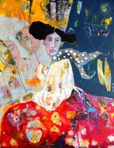 Original Women Painting by Renata Kacova Mask Painting, Woman Painting, Original Art, Original Paintings, Buy Art, Saatchi Art, Canvas Art, Fine Art, Embroidery