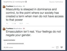 "When the term ""emasculation"" was totally emasculated: 