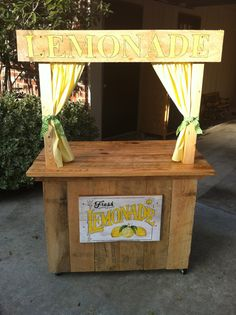 Lemonaide stand that my husband made for our school auction.  Of course I gave him all the directions!