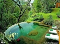As the pool isn't built into the ground, it's easily transferable once you move home. A pool is the greatest backyard amenity. If you believe you are prepared to construct your own pool, start looking for inspiration online and you… Continue Reading → Outdoor Spaces, Outdoor Living, Outdoor Pool, Backyard Pools, Backyard Ideas, Steep Backyard, Nice Backyard, Indoor Pools, Patio Ideas