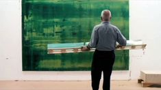Gerhard Richter Painting ~ A New Film by Corinna Belz Captures the German Impasto Master at Work with His Squeegee (3:17) via Nowness