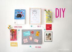English Footprints: DIY WALL // Pinnwand, Blumenvase, Washi-Tape by yummydesign
