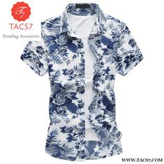 Men's Clothing Brave Mens Fashion Printed Blouse 2019 Summer New Trend Casual Holiday Short Sleeve Turn Down Collar Slim Beach Shirts Male Boy Top