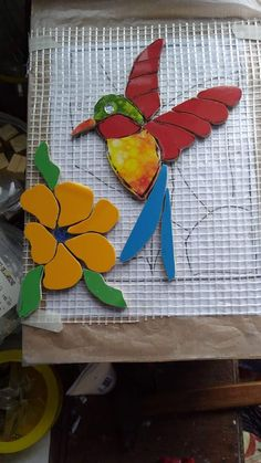 Mosaic Animals, Mosaic Birds, Mosaic Flowers, Glass Mosaic Tiles, Mosaic Wall, Whimsical Fashion, Glass Birds, Stained Glass Art, Projects To Try
