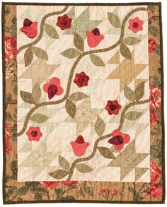 Vines and Flowers quilt by Lori Smith