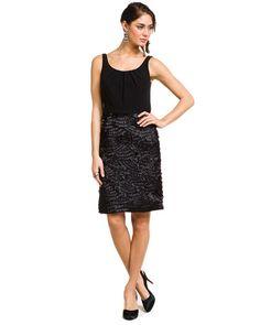 Little black fringe dress.
