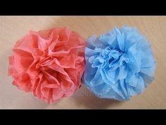 ▶ Bastelanleitung: Blumen basteln aus Servietten - YouTube