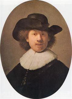 Self-portrait - Rembrandt  - Completion Date: 1632