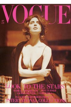 Isabella Rossellini on the cover of Vogue