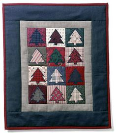 CHRISTMAS TREE MINI QUILT- image idea