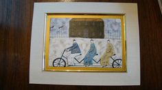 $5.99  Tandem Trio Bicycle Fine ART Greeting Card CO Operation BY Paula Mcardle | eBay #holiday #stationary #greetingcard