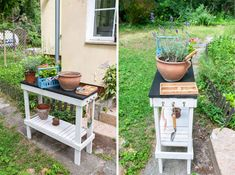 Outdoor Furniture Sets, Outdoor Decor, Garden Table, Diy Table, Home Decor, Decoration Home, Room Decor, Handmade Table, Home Interior Design