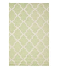 This Light Green Delray Wool Rug is perfect! #zulilyfinds