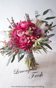 Fuchsia pink wedding
