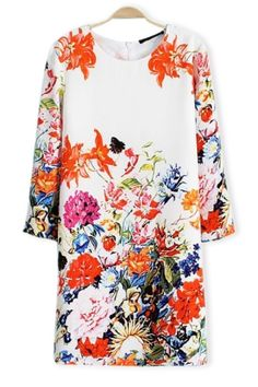 Must-have Floral 3/4 Sleeve Chiffon Dress, $27.90: http://fave.co/1Ex52YX
