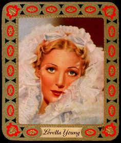 German Cigarette Card - Loretta Young | by cigcardpix