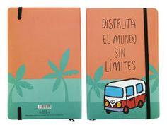 LIBRETA DISFRUTA EL MUND*14X21