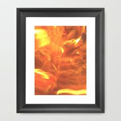 Dancing Flames Framed Art Print by Lisa De Rosa-Essence of Life Photography - $34.00