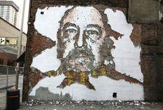 Vhils Street art Fresque murale 02