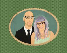 Wedding portrait in a single oval frame. Wedding by lilidiprima. #wedding #weddinginvitation #weddingportrait #customportrait #coupleportrait #etsybestgifts #etsyfinds #weddingidea