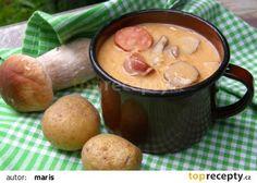 Kapustnica recept - TopRecepty.cz Polish Recipes, Russian Recipes, Korn, Pretzel Bites, Sausage, Bread, Ethnic Recipes, Desserts, Soups