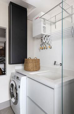 best hanging rack design you must have at your laundry room page 12 Laundry Decor, Small Laundry Rooms, Kitchen Room Design, Laundry Room Design, Kitchen Interior, Small House Decorating, Decorating Kitchen, Rack Design, Small Apartments